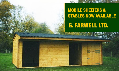 Farwell's mobile pony shelters