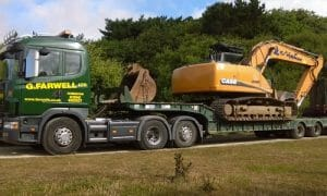 Farwell's low loader hire New Forest