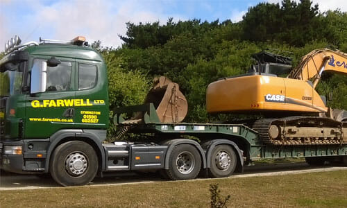 low loader lorry hire in the New Forest