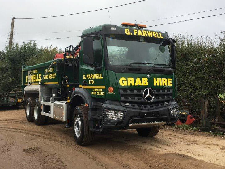 6 wheel grab hire in ringwood