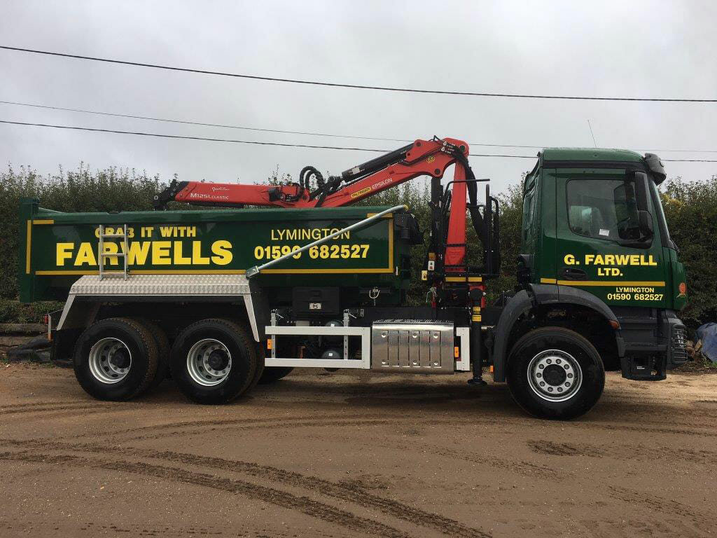 farwells new grab lorry ringwood