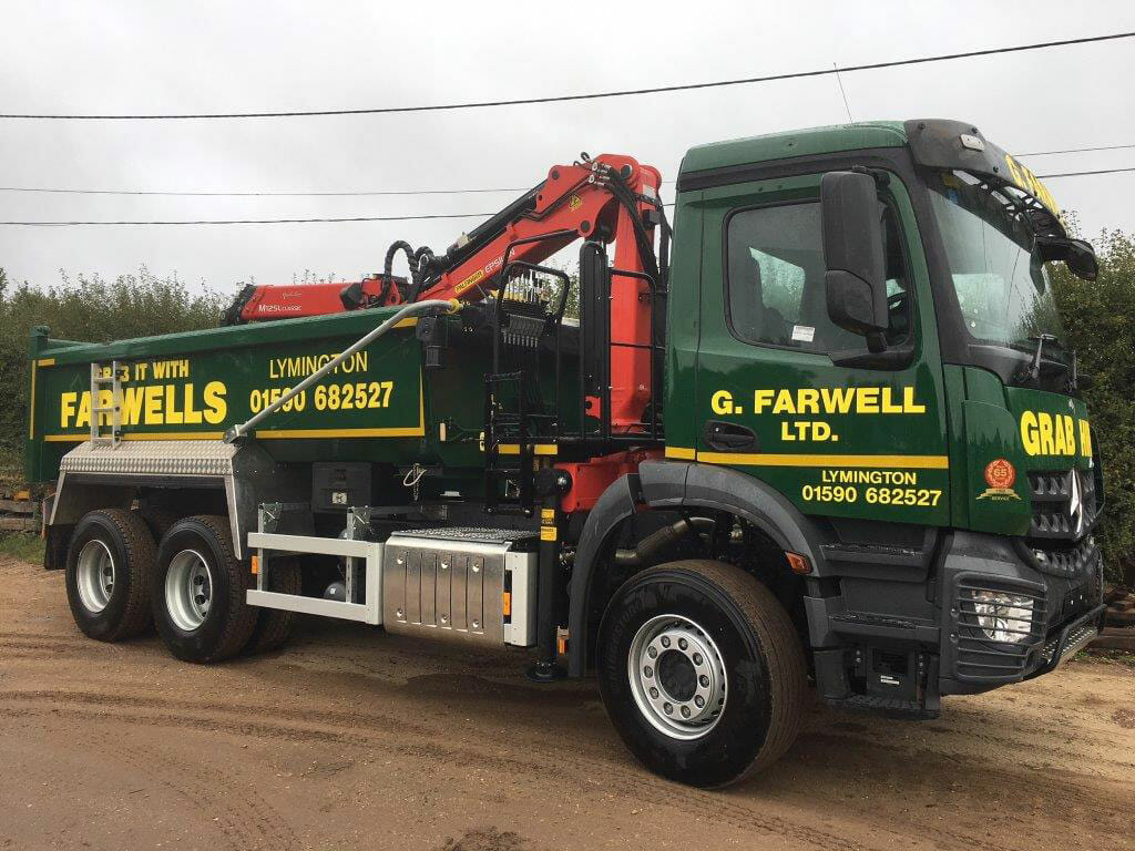 farwells grab lorry hire ringwood