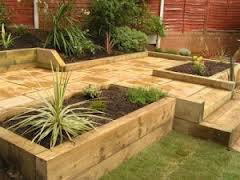 sleepers used for raised beds