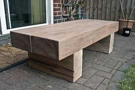 sleepers made into a table