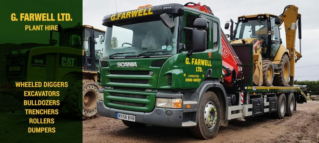 Farwell's plant hire in Hampshire