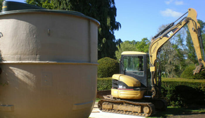 farwells septic tank installation in the new forest